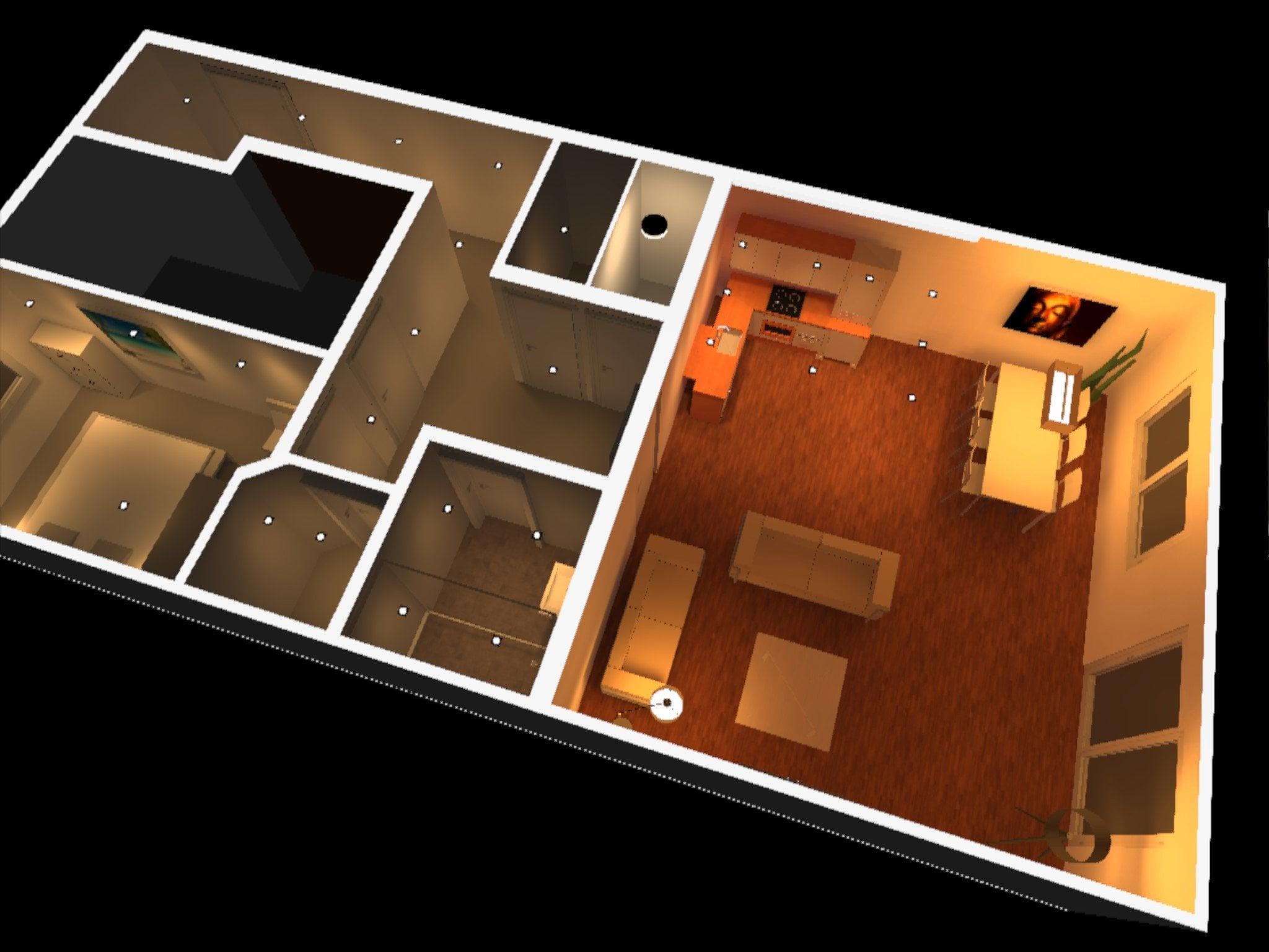 Voorbeeld Lichtplan Woonkamer : Lichtplan in 3d geeft duidelijkheid trimless led inbouwspots