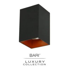 opbouw spot vierkant zwart