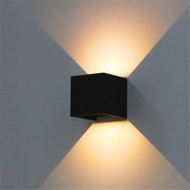 wandlamp zwart cube strak vierkant