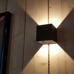 Wandlamp zwart dimbaar
