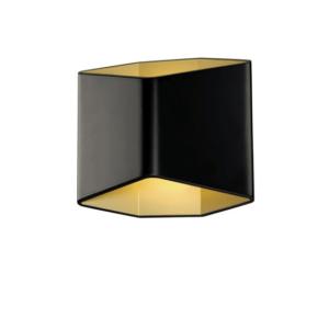 Wandlamp dubbele schijnrichting zwart goud waterdicht