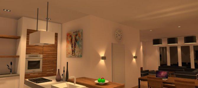Lichtplan keuken trimless spots