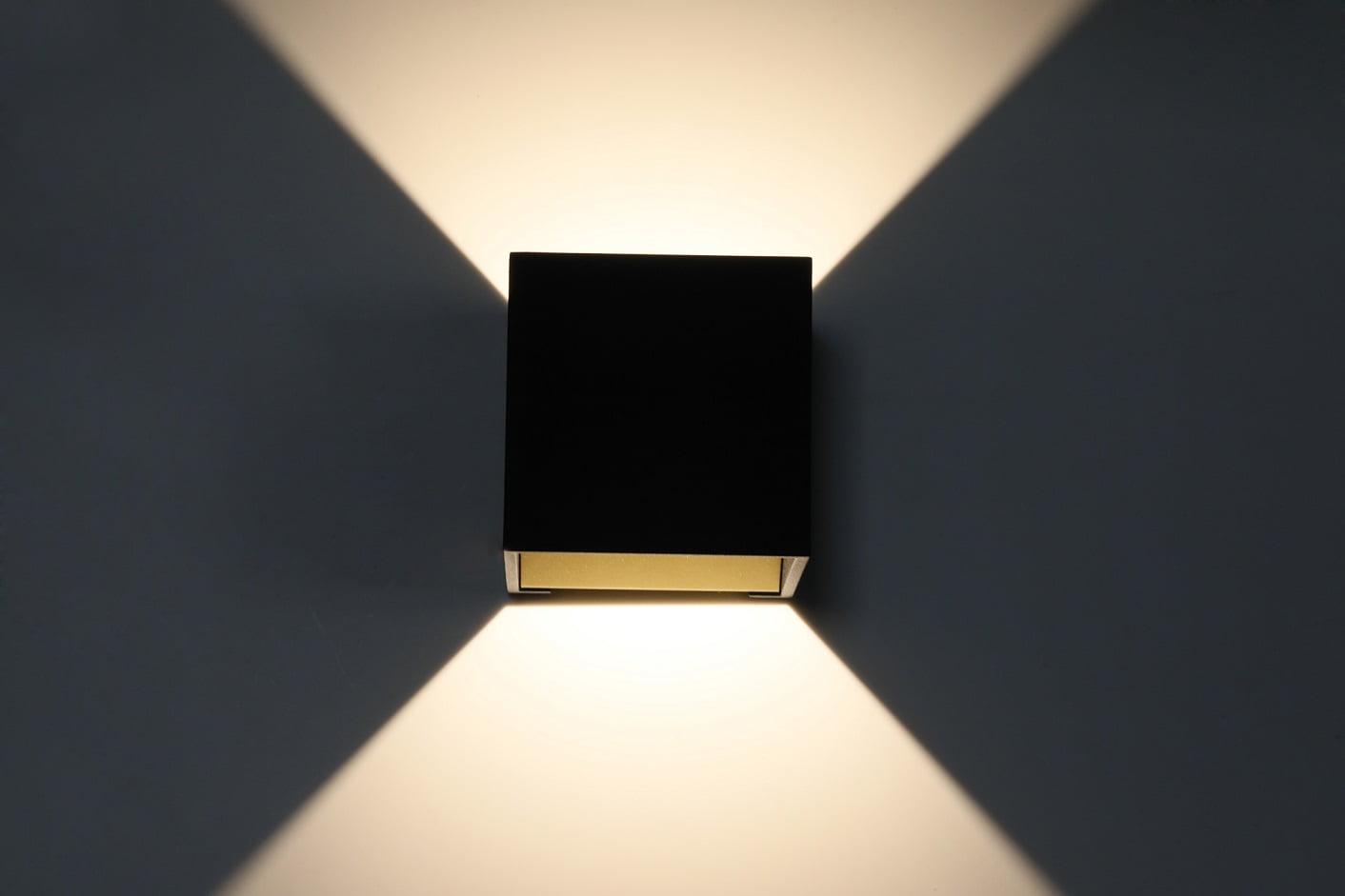 Wandlamp Goud Zwart Led Cube Online Kopen Trimless Led Inbouwspots